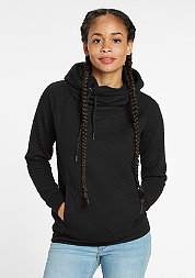 Hooded-Sweatshirt Quilt Hoody black