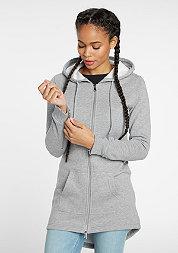 Hooded-Zipper Sweat Parka grey