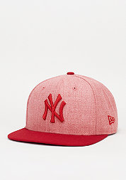 9Fifty Contrast Heather MLB New York Yankees heather scarlet