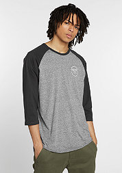 T-Shirt Wheeler 3/4 heather grey/washed black
