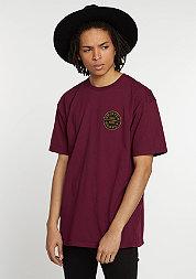 T-Shirt Oath burgundy/gold