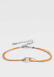 SN0035 Bracelet silver/orange