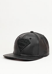 Snapback-Cap Leather Perf Superman black/black
