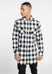 Hemd Side-Zip Checked Flanell black/white