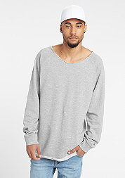 Sweatshirt Long Open Edge Terry grey