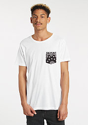 T-Shirt Contrast Pocket white/black bandana