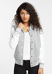 2-Tone College Sweatjacket grey/white