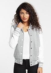 Jacke 2-Tone College Sweatjacket grey/white