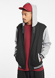 Hooded-Zipper 2-Tone black/grey