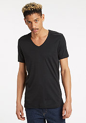 T-Shirt Slim 1by1 V-Neck black