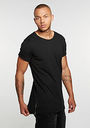T-Shirt Long Shaped Side Zip black