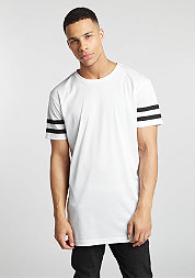 T-Shirt Stripe Mesh white/black