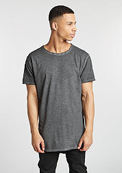 T-Shirt Long Back Shaped Spray Dye dark grey