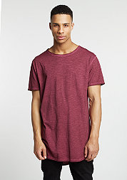 T-Shirt Long Back Shaped Spray Dye burgundy