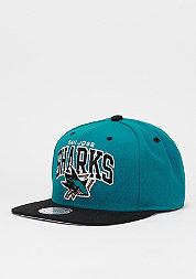 Snapback-Cap Team Arch NHL San Jose Sharks teal