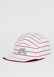 5-Panel-Cap Reversible gym red/white