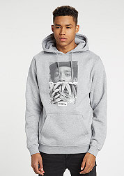 Hooded-Sweatshirt Wiz Khalifa Half Face heather grey