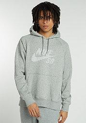 Hooded-Sweatshirt Icon PO Stripe dark grey heather/white