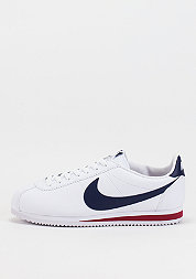 Classic Cortez Leather white/midnight navy/gym red