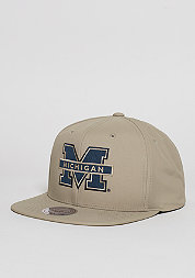 Snapback-Cap Milo NCAA Michigan tan