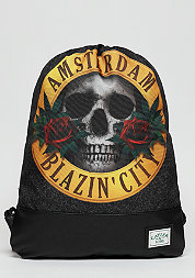 C&S GL Budz N Roses Gymbag acid washed black/mc