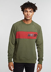 Sweatshirt Everett Graphic cargo khaki/dark cayenne