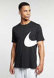T-Shirt Oversize Swoosh black/black/white