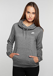 Hooded-Sweatshirt Funnel-Neck Hoodie charcoal heather/charcoal heather