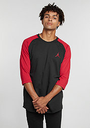 T-Shirt True Raglan Three-Quarter black/gym red/gym red