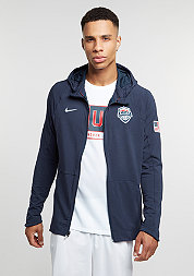 Hooded-Zipper USAB Hyperlite obsidian/white
