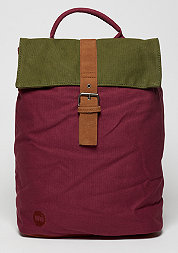 Day Pack Tona lCanvas burgundy/khaki