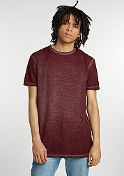 T-Shirt Burnout bordeaux