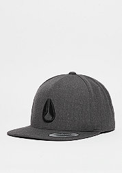 Snapback-Cap Simon dark grey heather