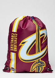 Turnbeutel Cropped Logo NBA Cleveland Cavaliers burgundy