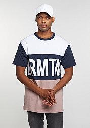 T-Shirt Block rose/navy