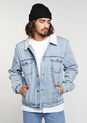 Denim Teddy Jacket blue