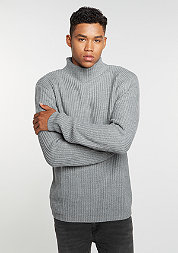Sweatshirt Knit Turtleneck grey