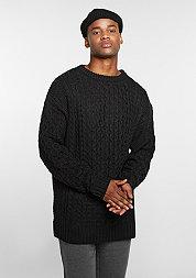Sweatshirt Knit Crew Oversized black
