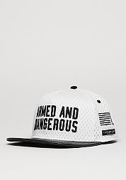 Snapback-Cap BL Armed N´Dangerous white/black
