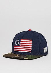 Snapback-Cap WL Salute navy/woodland