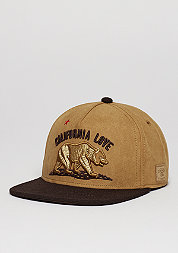 Snapback-Cap WL Cali Love honey suede/brown