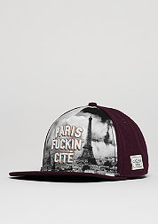 Snapback-Cap WL Paris Skyline maroon/mc