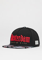 Snapback-Cap GL Amsterdam black/concrete roses/red