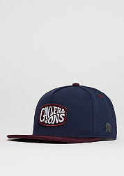 C&S Cap CL Wavey navy/maroon/white