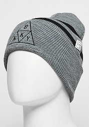 C&S WL Beanie Briangle Old School grey heather/ black
