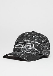 C&S WL Cap Curved Infinity black marble/white
