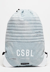 C&S BL Gymbag Moto light blue denim/white