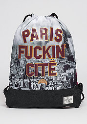 Turnbeutel WL Gymbag Paris Skyline maroon/mc