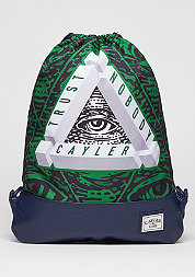 Turnbeutel WL Gymbag Triangle of Trust navy/green/white