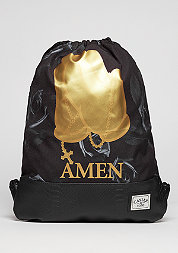 Turnbeutel WL Gymbag Amen black/gold